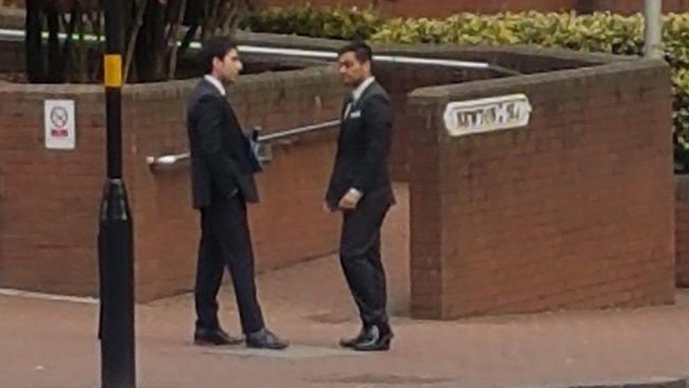 Shahan Mir (right)