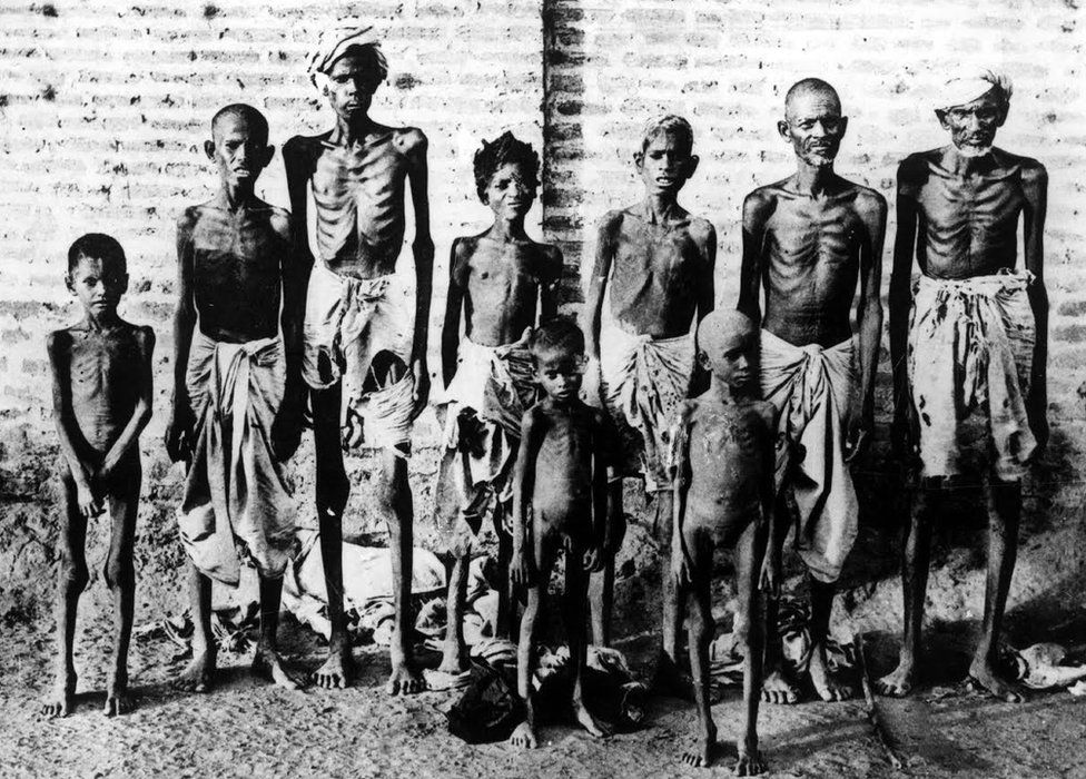 India famine victims