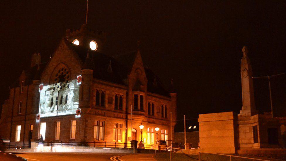 Lerwick Town Hall and War Memorial