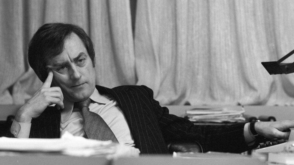 Harold Evans pictured in 1975