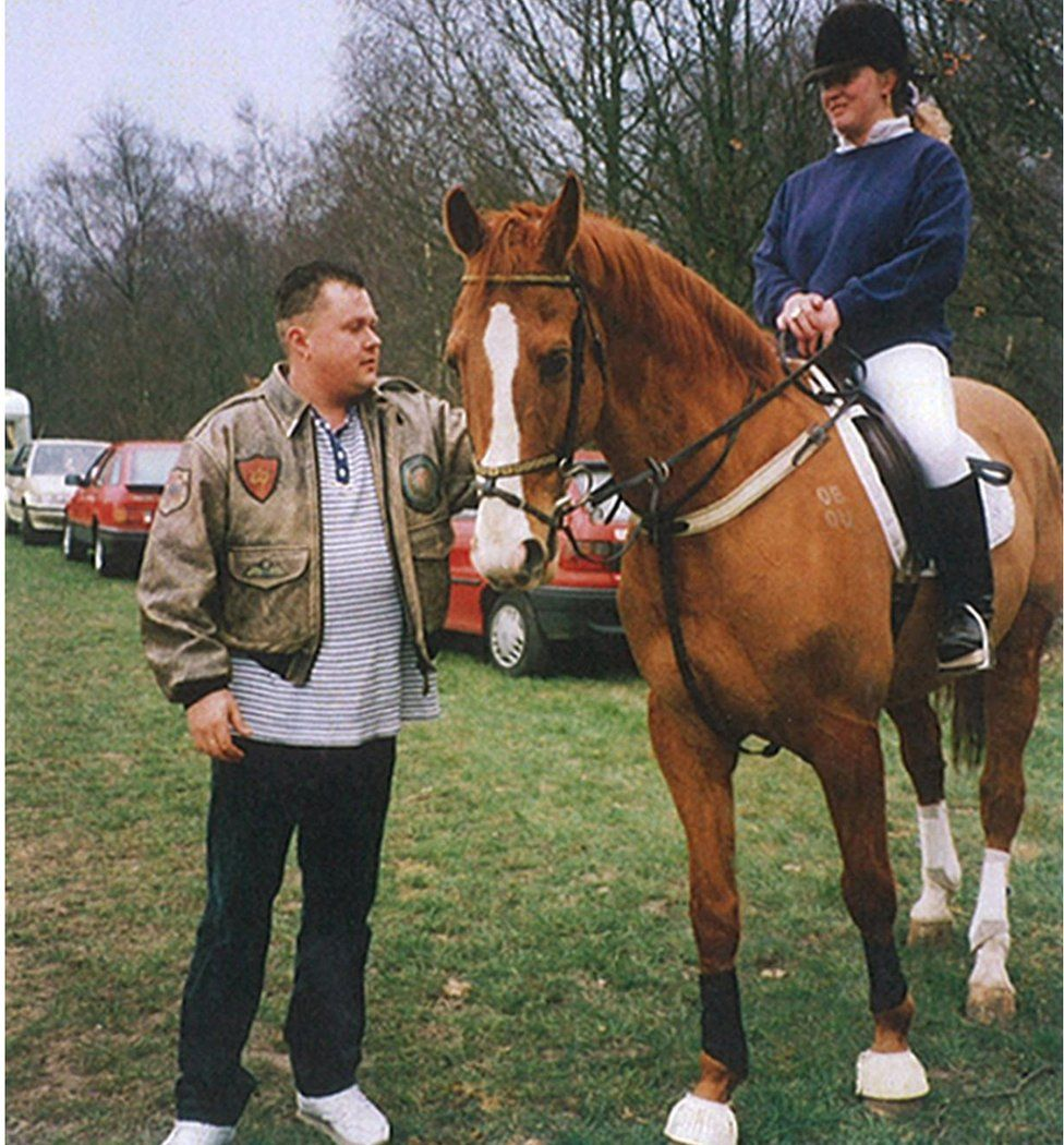 Early 1990s: Bellfield with Johanna Collings at Yateley horse show in Hampshire, near to where Milly Dowler's body was found