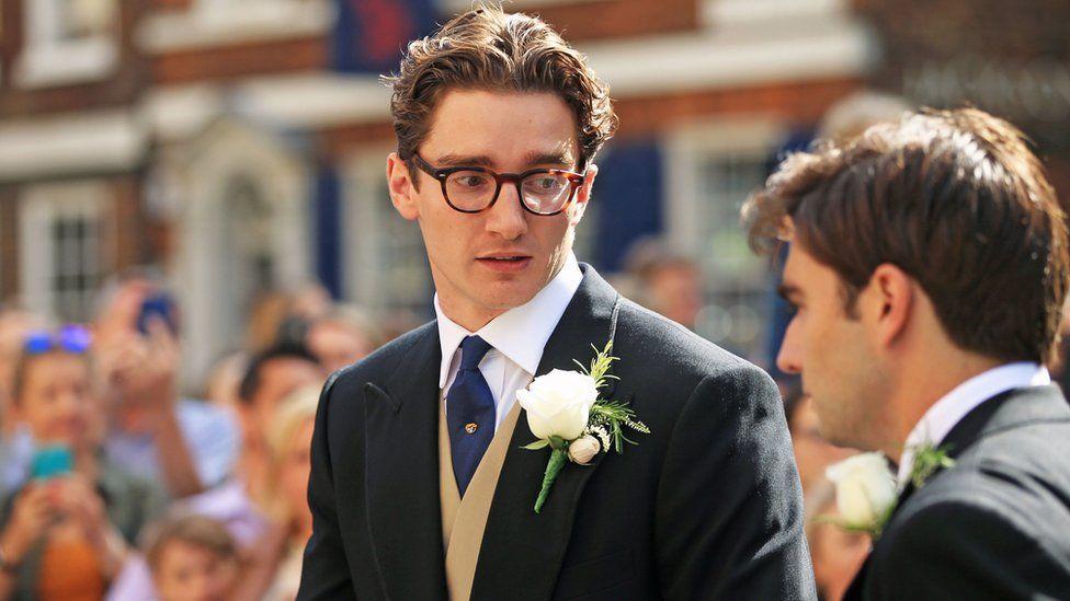 Caspar Jopling arriving at York Minster for his wedding to singer Ellie Goulding
