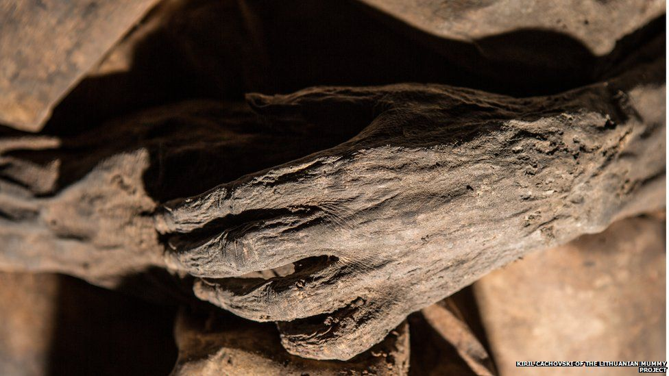 A child mummy from the 17th century
