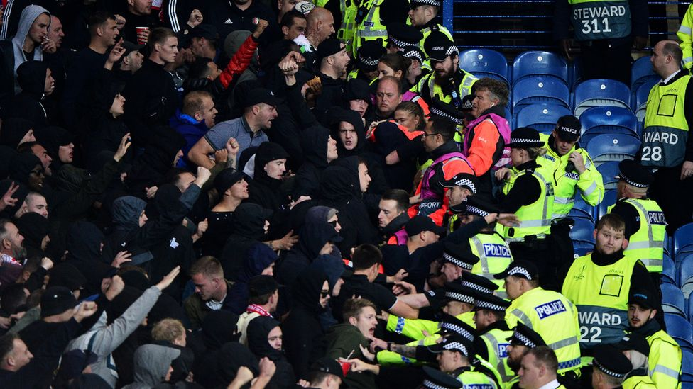 Police officers assaulted in Ibrox crowd trouble