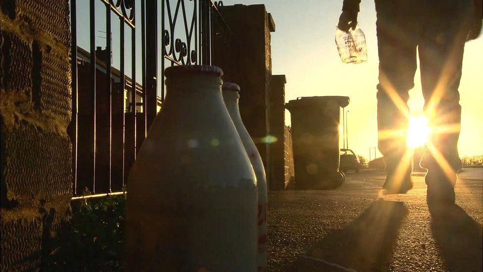 Milkman at dawn
