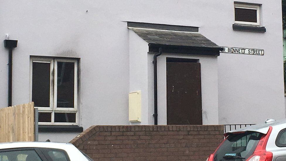 A woman was treated for smoke inhalation after a fire in Derry