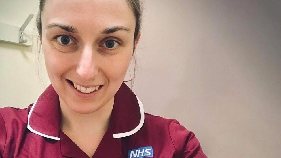 Gemma in her nurses uniform