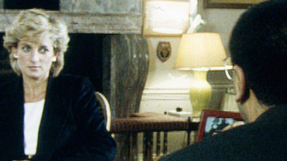 Princess Diana speaking with Martin Bashir