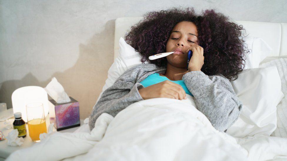 A pior hora do dia para ficar doente