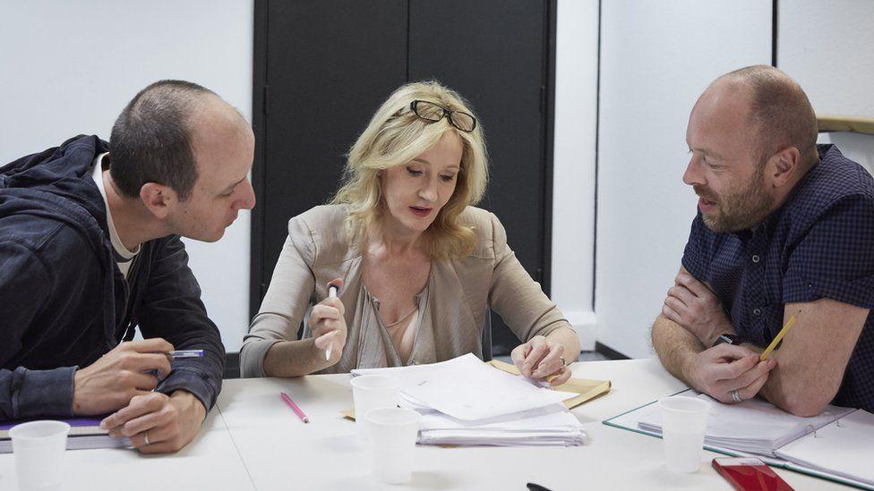 Jack Thorne, JK Rowling and John Tiffany