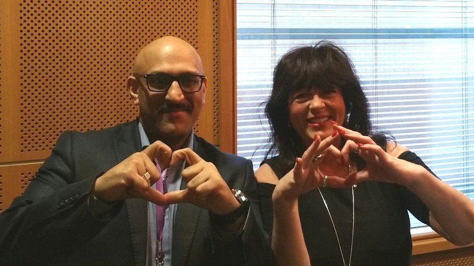 Shahab Adris and Liz Green