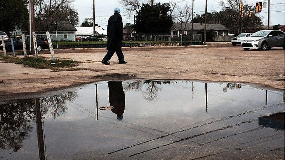 A man walking through Mississippi