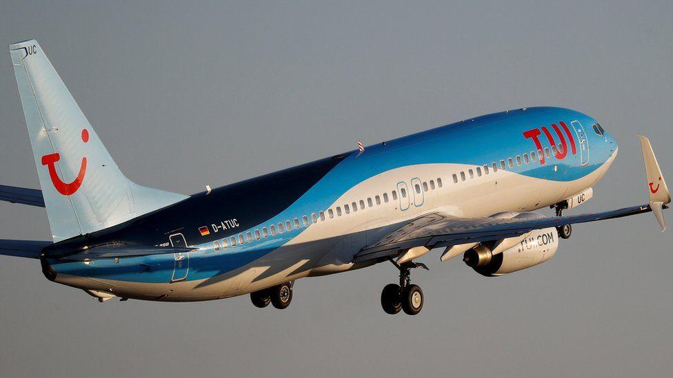A Tui flight takes off from Majorca