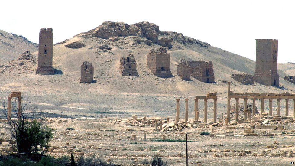 General view of Palmyra in file photo released on 17 May 2015 by the Syrian official news agency Sana