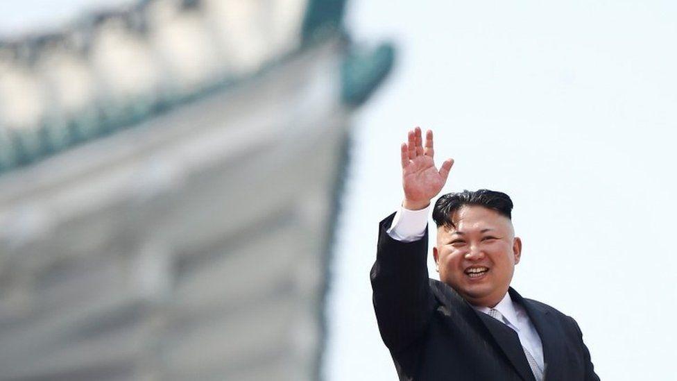 Kim Jong-un at the parade
