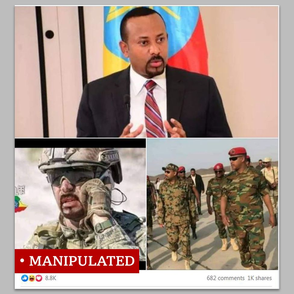 """Photo montage of Ethiopia's prime minister labelled as """"manipulated"""""""