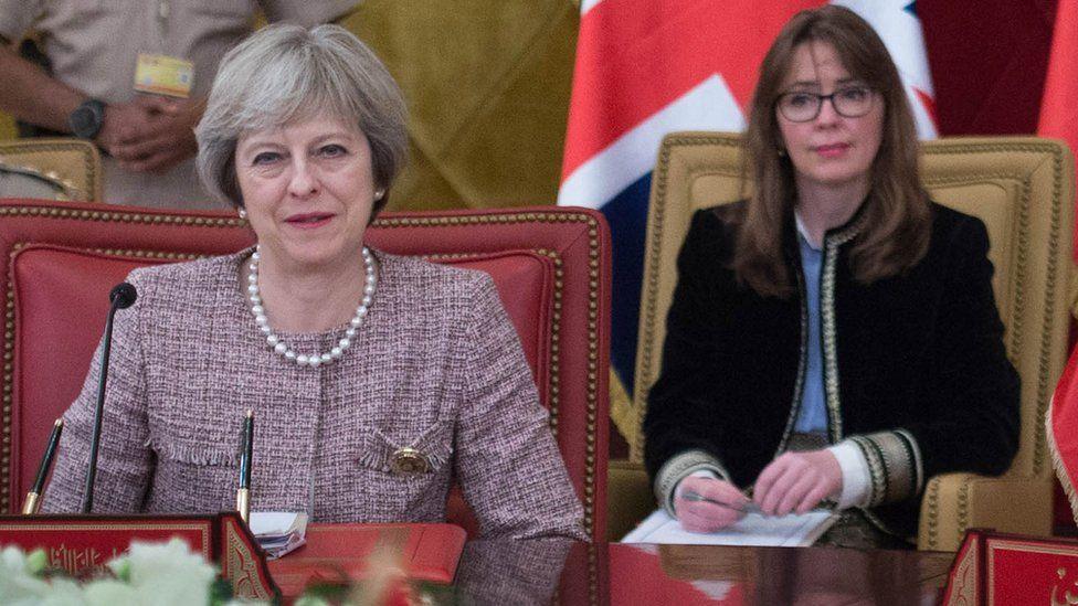 Theresa May and Fiona Hill