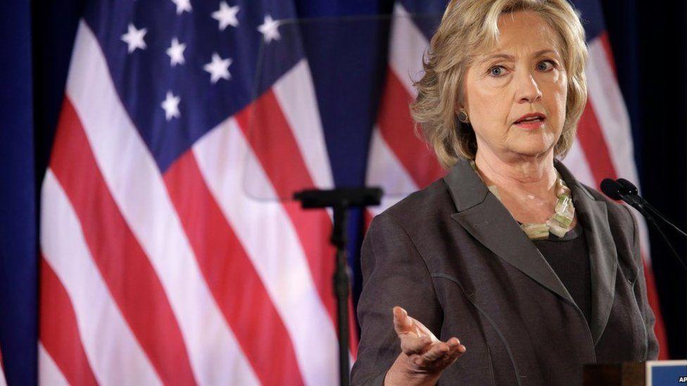 Democratic presidential hopeful Hillary Rodham Clinton speaks Friday, July 24, 2015, at the New York University Leonard N. Stern School of Business in New York.