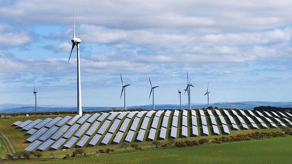 Wind and solar farm