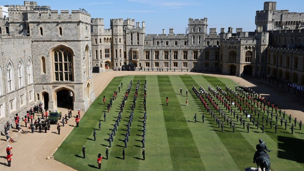 The grounds of Windsor Castle