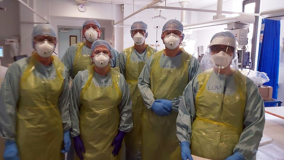 A team of radiologists in PPE