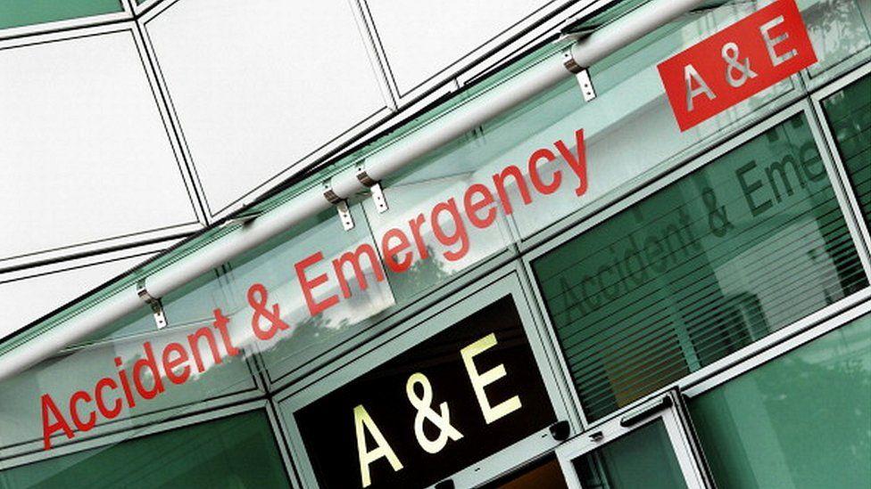 UK, London, Accident & Emergency entrance at University College Hospital