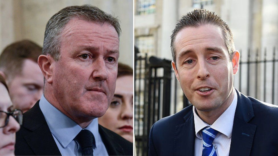 Conor Murphy ( left) and Paul Givan have been speaking about next week's Stormont talks