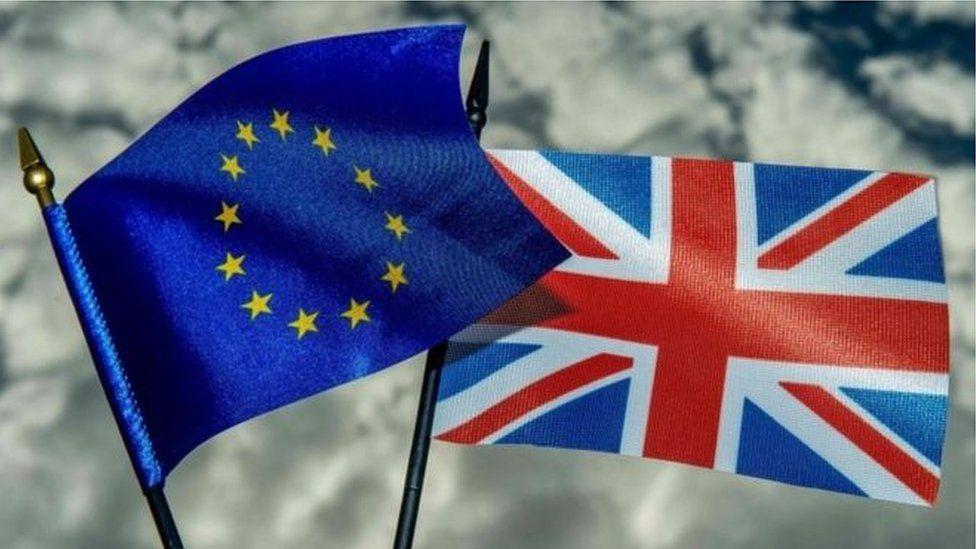 EU & UK flags
