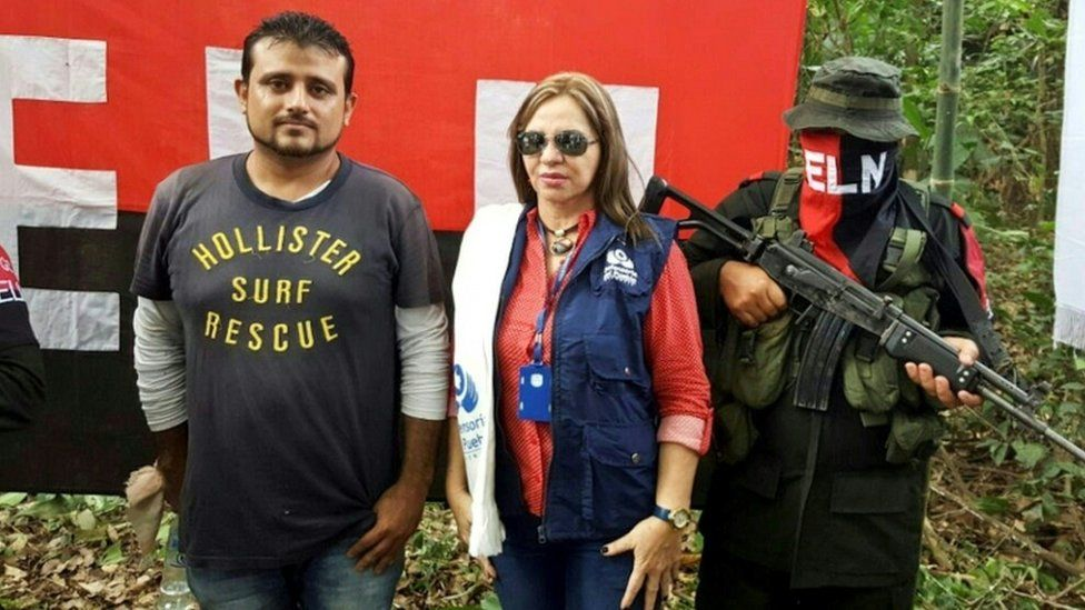 Nelson Alarcon, freed by the ELN in Arauca on 10 October 16