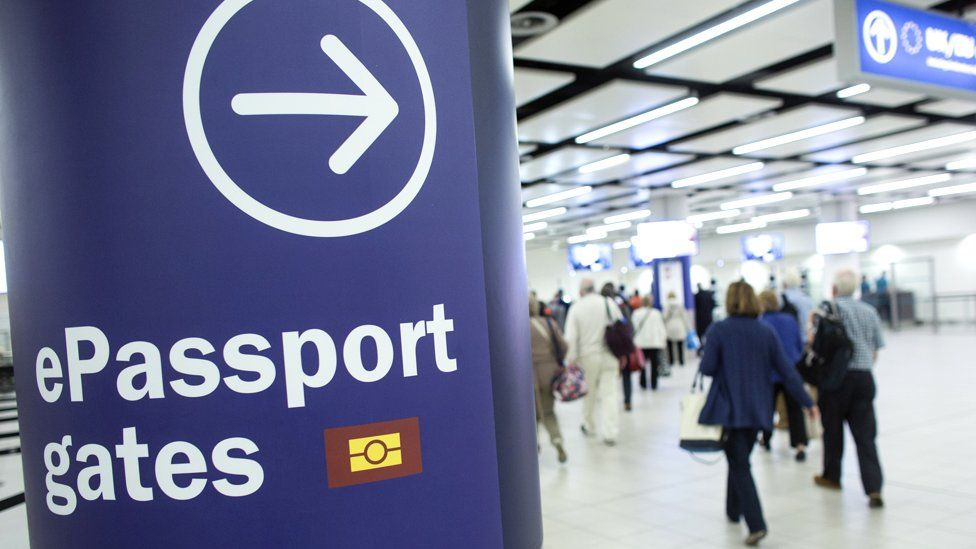 Passport gates