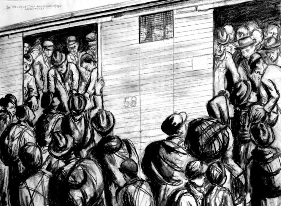 Trem de gado para Auschwitz