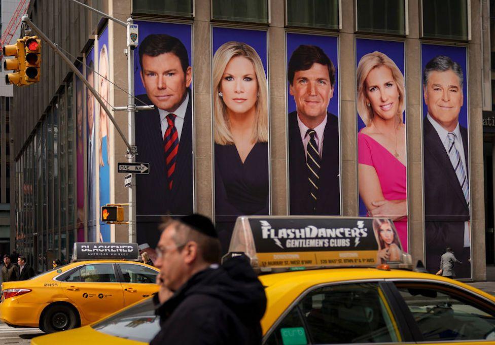 Fox News billboard in NYC