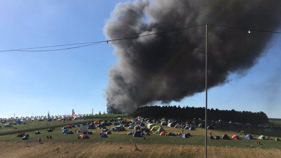 Fire at Boomtown Fair festival