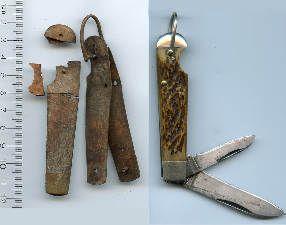 The team found a bone-handled jack knife that matches one mentioned in Earhart's inventory