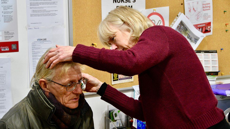 Clare Cassidy treating patient
