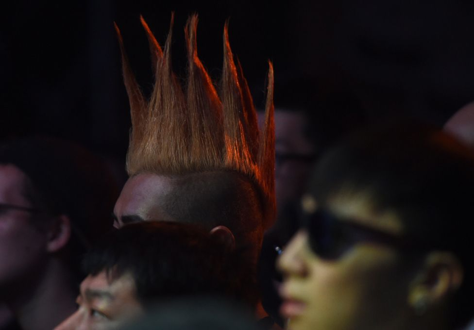 Punk hair at the 2014 Beijing Punk Festival