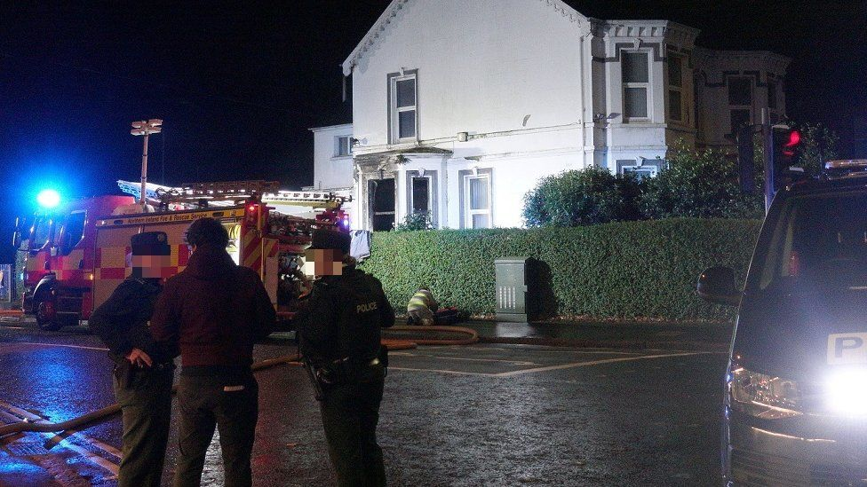 Arson attack at Kincora Boys' Home