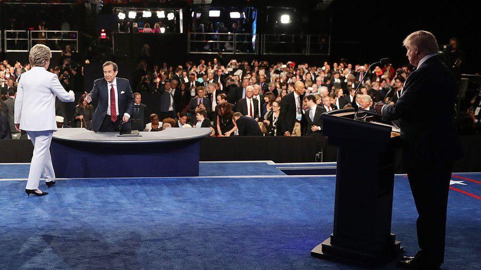 the 2016 debate between Trump and Clinton