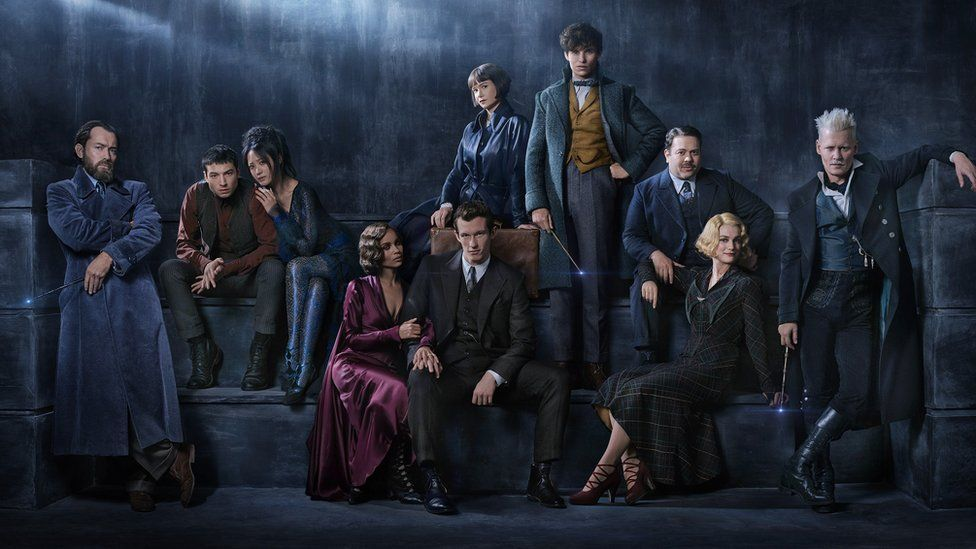 Eddie Redmayne and the rest of the Fantastic Beasts cast