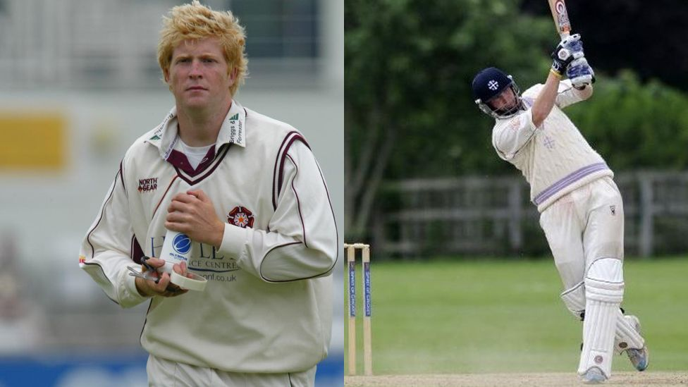 Patrick Foster playing cricket