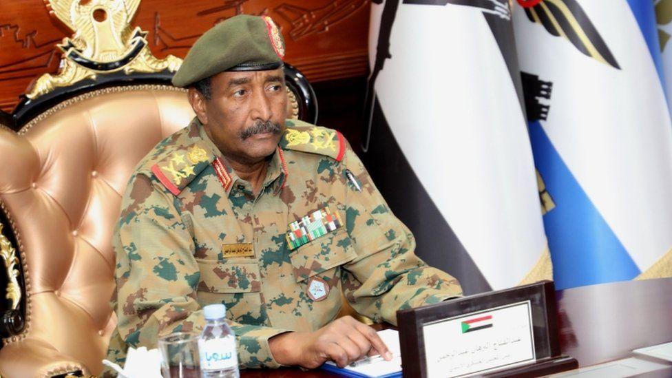 "Leader of Sudan""s transitional council, Lieutenant General Abdel Fattah Abdelrahman Burhan"