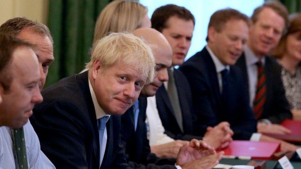 Boris Johnson at cabinet meeting