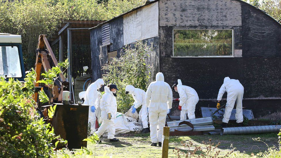 Police search Angela Taylor's farm