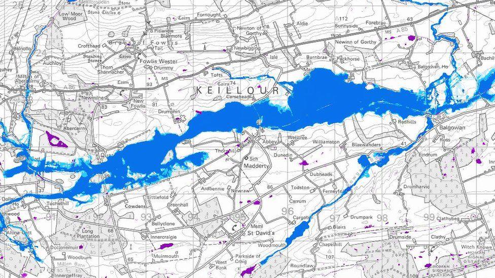 SEPA flood risk map