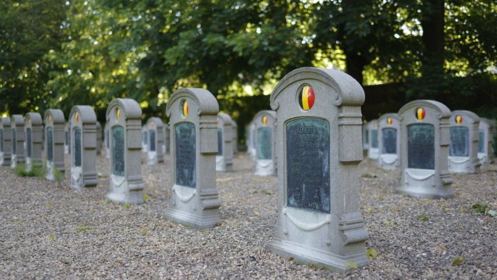 The cemetery in Ghent, Belgium