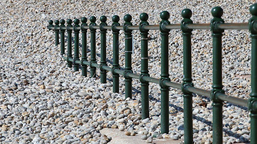 Barrier on a beach