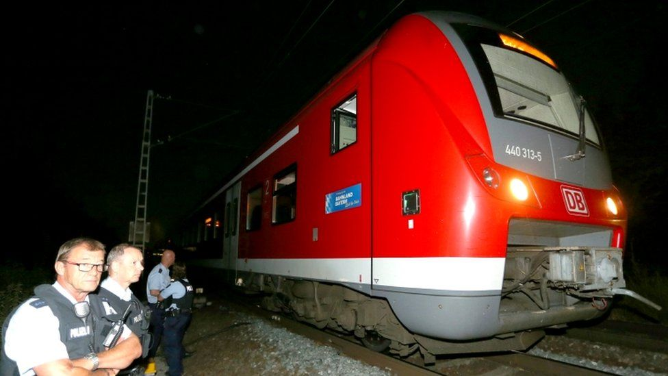 Train attack site in Germany, 18 July