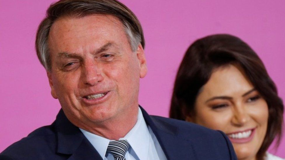 Jair Bolsonaro and his wife Michelle