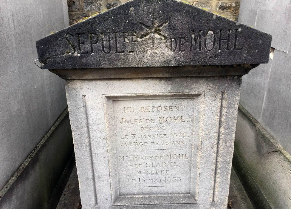 Jules and Mary Clarke Mohl's grave
