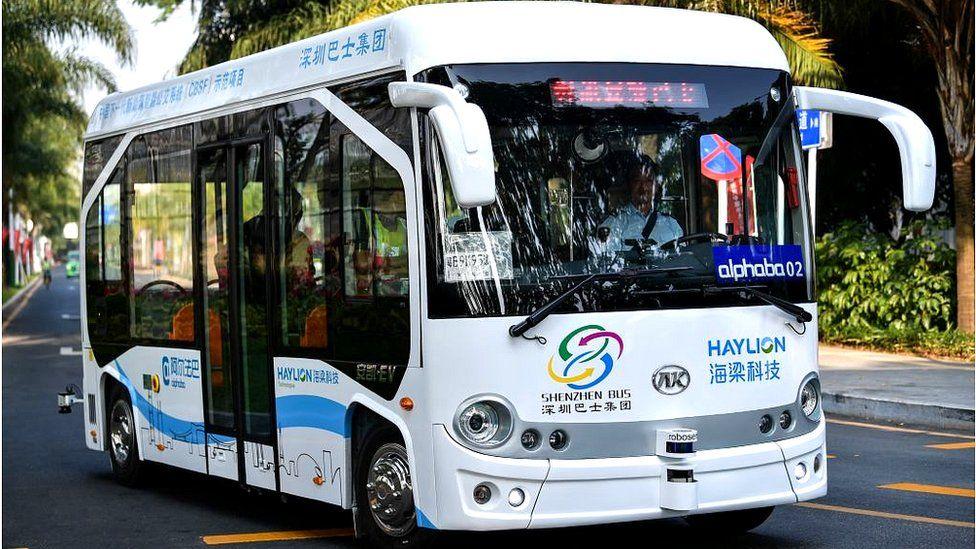 Autonomous bus service in China